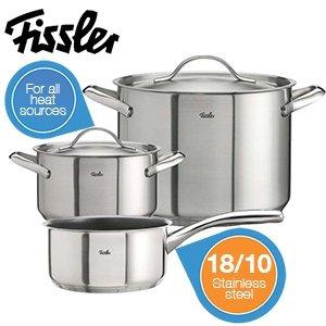 Fissler Kochset 5-teilig - geeignet für alle Herdarten (auch Induktion) 59,95€ + 5,95€ Versand @iBOOD