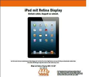 expert klein: Apple iPad 4 mit Retina-Display 16GB Wi-Fi black