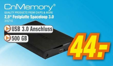 """expert klein: CnMemory 2,5"""" Spaceloop 3.0 500GB"""