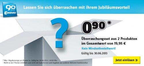 CONRAD - Überraschungsset aus 2 Prudukten im Gesamtwert von 19,95 für 0,90 EUR bzw. 6,85 EUR