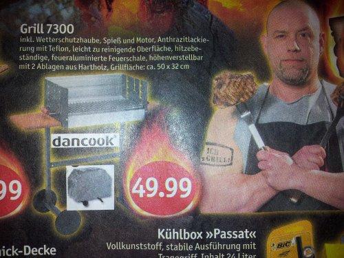 Lokal? Schleswig: Dancook 7300 + Spieß + Haube für 49,99 € @Sky/Coop * 52% unter Normalpreis
