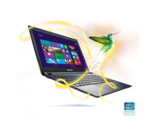 """Medion™ - 14"""" Ultrabook """"Akoya S4215/MD 98122"""" (Core i3-2367M 2x1.40GHz ULV, 4GB RAM, 500GB HDD + 32GB SSD, USB 3.0, Win 8 64-Bit) ab €339,96 [@MeinPaket.de]"""