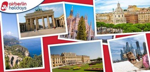 Air Berlin Städtreisen Mailand, Rom, Mallorca, Abu Dhabi, Berlin, Wien... und viele mehr! nur bis 25.06.2013 mit 50 € Gutschein !!