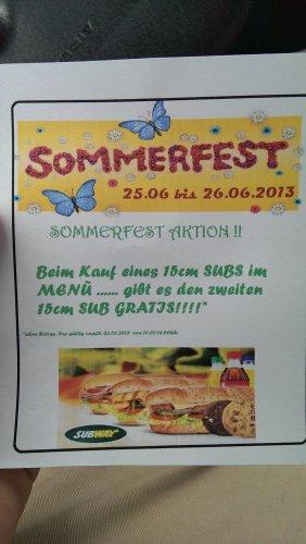 [Local] Subway Bergisch Gladbach Gratis 15cm Sub beim kauf eines 15cm Sub Menu.