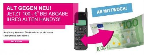 Telekom Neuvertrag: Alt gegen Neu Aktion (100€ Gutschrift) vom 26.06. - 02.07.2013