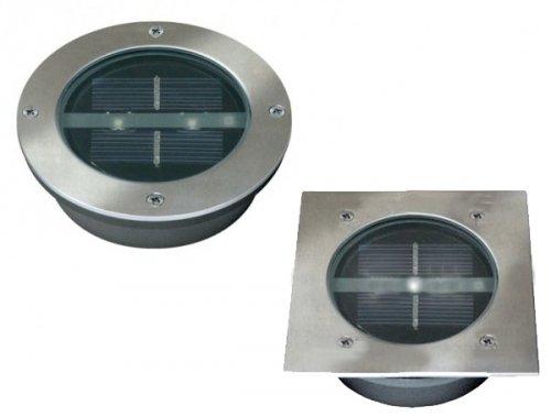 10x SOLAR LED BODENSTRAHLER BODENLEUCHTE STRAHLER Rund od Quadratisch für 26,21€ oder weniger!