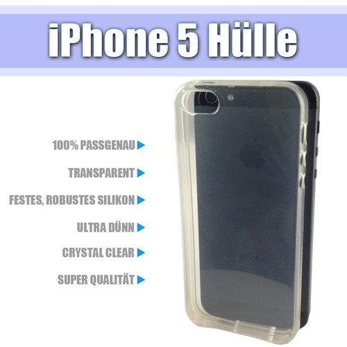 iPhone 5 Silikon Case Ultra Dünn Hülle Transparent Crystal Clear Cover Bumper