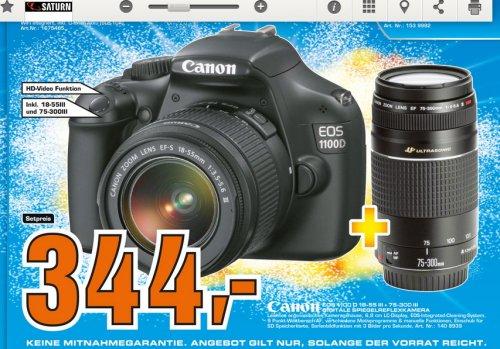 [Saturn  Berlin   ]  Canon EOS 1100D + EF-S 18-55 mm III DC + EF 75-300 mm III DC 344€
