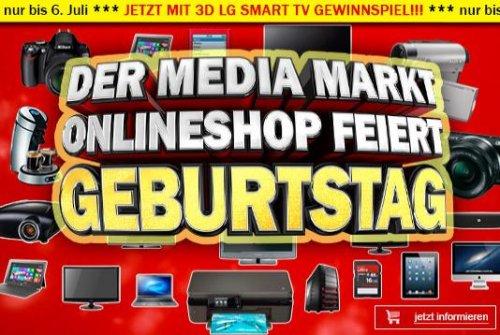 Media Markt Österreich feiert 1.Geburtstag des Onlineshops: Geburtstagsangebote