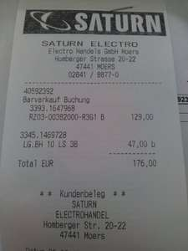 [SATURN MOERS] LG BH10LS38 Blu-Ray Brenner SATA intern