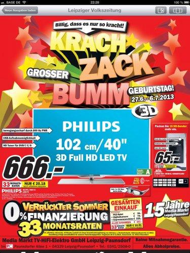 [Lokal Leipzig] Philips 40PFL7007K MM Paunsdorf