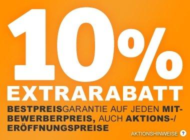 XXXL Möbelhaeuser Bestpreisgarantie: 10% auf jeden Mitbewerberpreis (auch Aktionsangebote!)