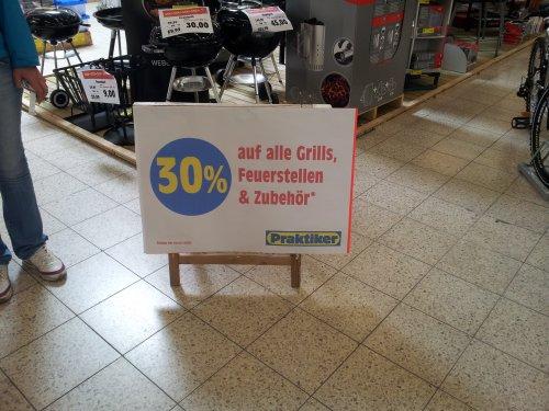 30% Rabatt auf alle Grills, Feuerstellen und Zubehör z.B. Webergrill