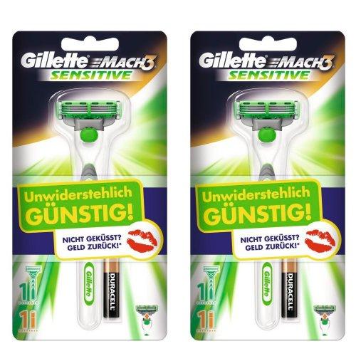 2er Pack Gillette MACH3 Sensitive Power Rasierapparat Limited Edition @Amazon Blitzdealz