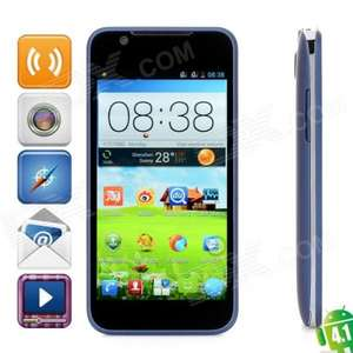 ZTE V956 Dual Sim Quad-Core Android 4.1 Smartphone  4,5 Zoll   Dual Camera 5MP/0,3MP