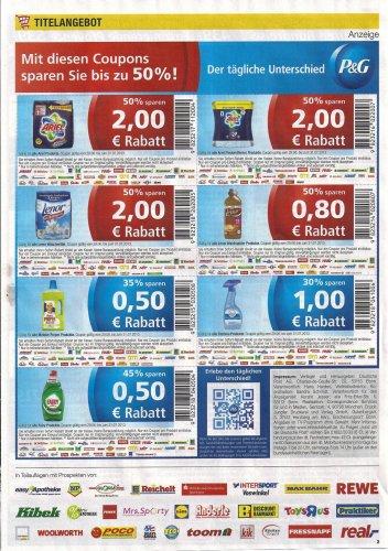 50 % auf Ariel, Ariel Fleckenentferner, Lenor Waschmittel und Lenor Weichspüler