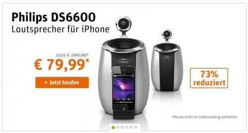 Philips DS6600D iPhone/iPod Dockinglautsprecher @Gravis Onlineshop EUR 83.98 statt 229.90