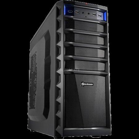 Sharkoon REX3 Economy (6x Front-USB, schwarz/schwarz)