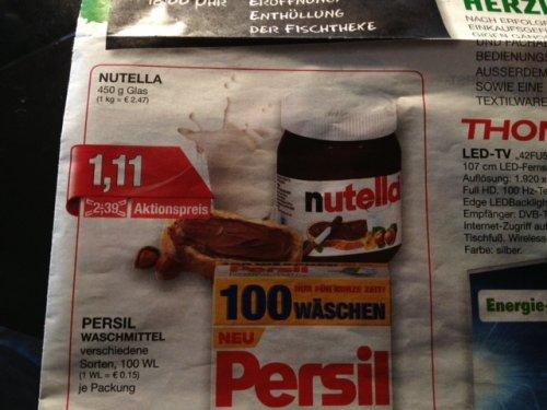 [Lokal] Bielefeld: Nutella 450g für 1,11 Euro (Marktkauf)