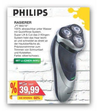 """""""Lokal Bielefeld und Umgebung"""" Rasierer Philips PT 860/16 für 39,99 bei Marktkauf"""
