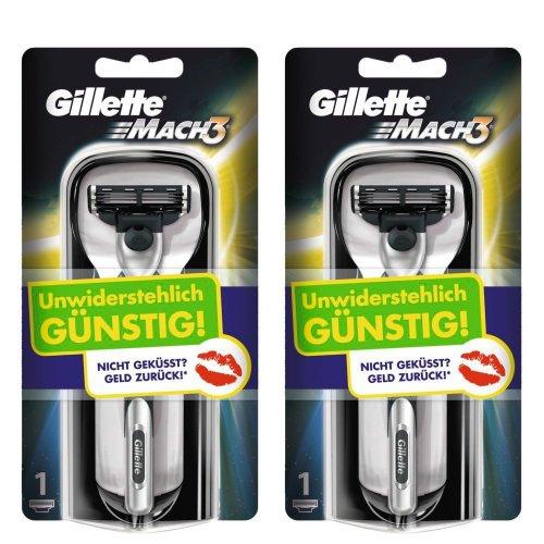 2er Pack Gillette MACH3  Rasierapparat @Amazon Blitzdealz