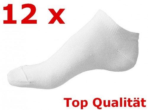 12er Set Damen Söckchen Füßlinge Sneaker Weiss oder Bunt Gr: 35-40