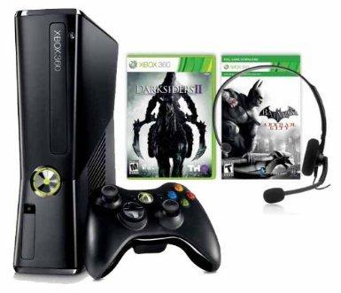 xbox bundle 250 GB + Batman + Darksiders II +controller + headset 1monat xbox-live