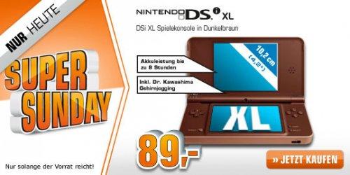 Nintendo DSi XL dunkelbraun @ Saturn Super Sunday ab 89,00 EUR  (+ 3 % qipu möglich)