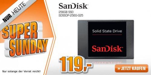 SAN DISK 256GB SSD (SDSSDP-256G-G25) @ Saturn Super Sunday ab EUR 119,00  (+ 3 % qipu möglich)