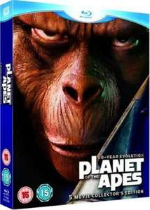 Planet der Affen: 40 Jahre Evolution Blu-ray Collection für 16,30 € [Zavvi.com&Hut.com]