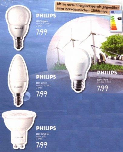 [Offline regional]: Philips- LED -Lampen für 7,99 € bei Edeka Südwest