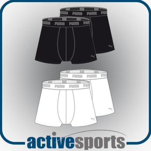 Puma Boxershorts 2 Stück weiss oder schwarz für 9,95 @Ebay