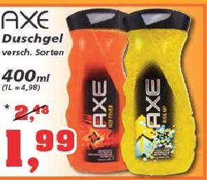 AXE Duschgel 400ml versch. Sorten 1,99 Euro @ [Offline] Thomas Philipps
