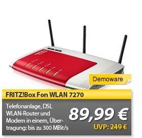 "AVM™ - WLAN/Modem-Router ""FRITZ!Box 7270"" (B-Ware) ab 84,15 [@MeinPaket.de]"