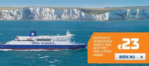 Fähre nach England: Dunkerque oder Calais - Dover für PKW incl. 4 Personen nur 23,- € gesamt (Juli-August) - Wohnmobil ab 33,- €