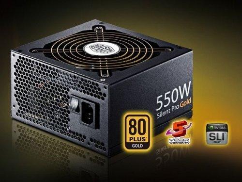 Cooler Master Silent Pro Gold 550W ATX 2.3 Netzteil (80 Plus Gold, 5 Jahre Garantie) @ ZackZack