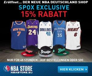 15% Rabatt im NBA Store