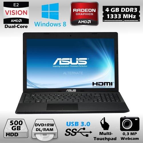 Notebook 15,6 Zoll ASUS X55U-SX038H + Windows 8 AMD Dual Core HDMI USB 3.0