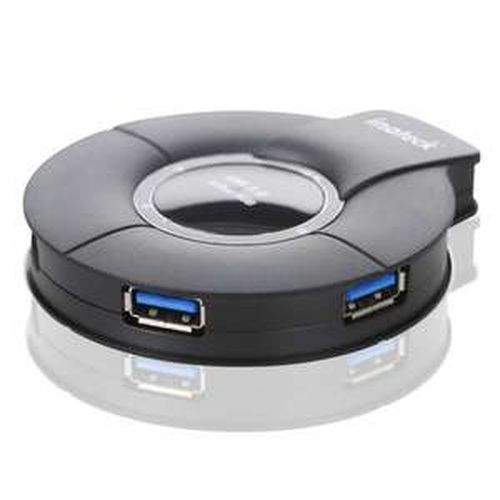 (AMAZON) Inateck HBU3VL-4P 4 Port USB3.0 Hub im runden Design-Gehäuse mit 5V 4A Netzteil und USB 3.0 Datenkabel EUR 23.99