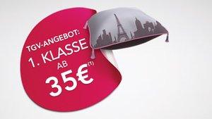 Mit dem TGV in der 1. Klasse nach z.b. Paris oder Marseile ab €35 einfach