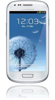 Samsung GALAXY S3 mini 8GB in weiß/pebble-blue Ohne SIM / Net-Lock / Ohne Branding @Base