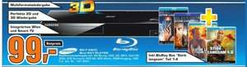 Samsung BD-F 6500 3D Blu-ray Player inkl. Stirb langsam 1-4 Blu-ray Box im Saturn Göttingen für 99 Euro