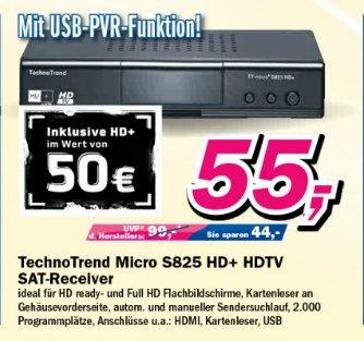 TechnoTrend TT-micro S825 HD+ digitaler Satellitenreceiver(inkl. HD+Karte im Wert von 50€) schwarz 55€   telepoint Borken und Dülmen
