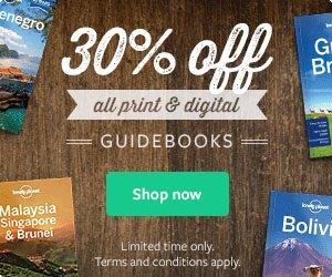 Reisebücher: 30% Rabatt auf alles bei Lonely Planet - auch auf digitale Ausgaben