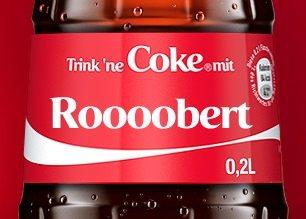 Individuell Gestaltete Coke Flaschen