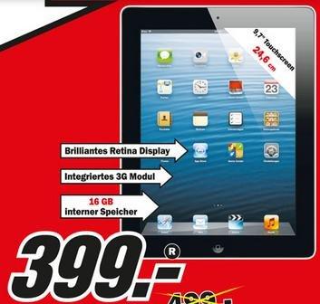 [lokal Stuttgart] iPad 3. Generation 16Gb Wifi + Cellular für 399€ bei MediaMarkt