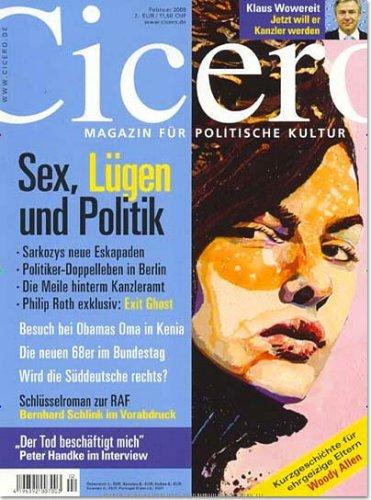 1 Ausgabe der Zeitschrift Cicero kostenlos, selbstkündigend!
