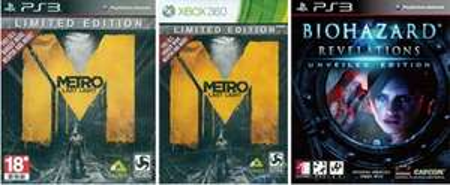 Resident Evil Revelations und Metro Last Light LE XBOX360 und PS3 [ENGLISCH] [CHILLMO] je 14 Euro