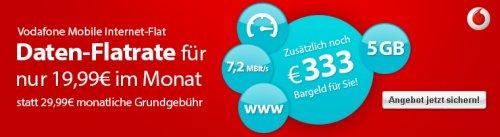 Vodafone Mobile Internet 5GB mit 333€ Auszahlung @Logitel