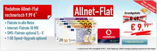 Allnet-Flat für 9,99 mtl. von Vodafone